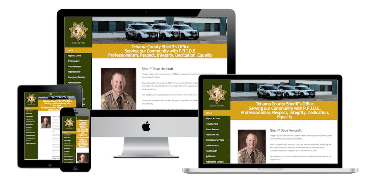Tehama County Sheriff | Sundial Design